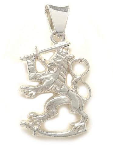 Suomileijona-riipus 23mm, hopeaa 11023