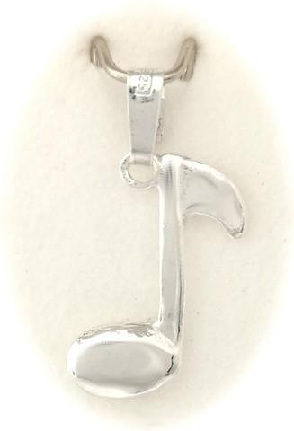 Nuotti-riipus, hopeaa 11025