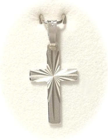 Ristiriipus timanttileikkauksella 19mm korkea, hopeaa 11303