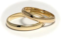 Kultasormus 3mm leveä, puolipyöreä 23010