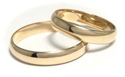 Kultasormus 4mm leveä, puolipyöreä 23011
