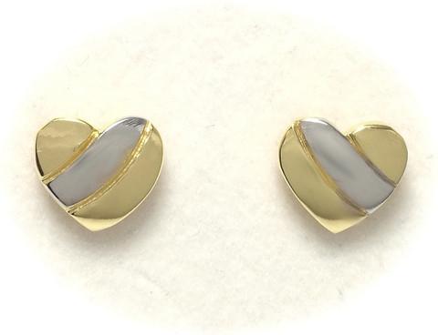 Sydäntappikorvakorut, hopeaa 12060