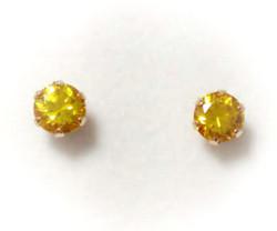 Tappikorvakorut keltainen 5mm, kultaa 22102