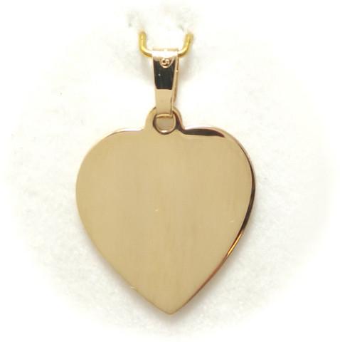 Sydänlaatta-riipus, 585-kultaa 21595