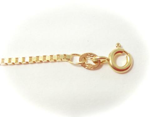 Venetsia-riipusketju 0,9mm leveä, kultaa 24006