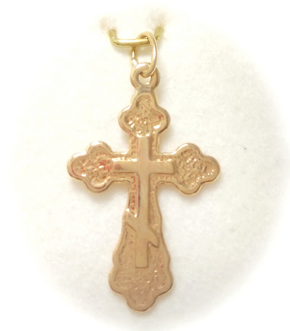 Ortodoksi risti-riipus 20mm korkea, kultaa 21451