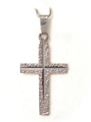 Risti-riipus timanttileikkauksella 25mm korkea, valkokultaa 21414