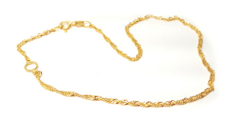 Kierre-nilkkaketju, kultaa 24101