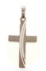 Ristiriipus kaari-leikkauksella 26mm korkea, hopeaa 11318