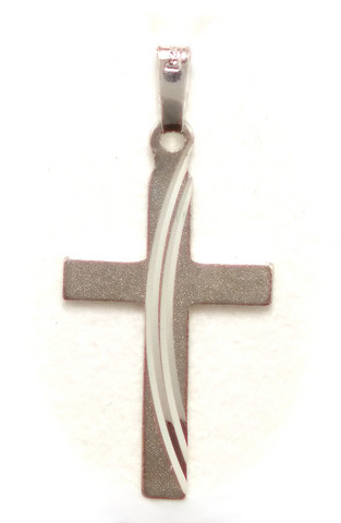 Ristiriipus 26mm korkea, hopeaa 11318