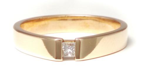 Timanttisormus flakka-runko, kultaa 0,10ct 23157