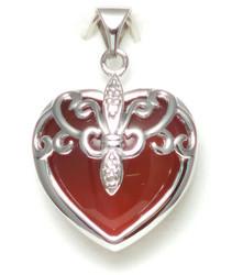 Sydän-riipus akaatilla, hopeaa 11557