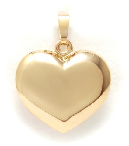 Sydän-riipus 18mm korkea, kultaa 21425