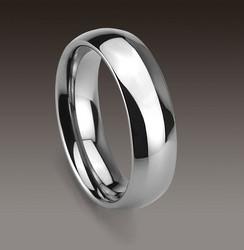 Tungsten/titaani sormus, 6mm leveä