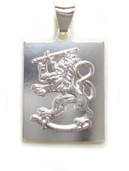 Suomileijona-laattariipus 27mm, hopeaa 11061