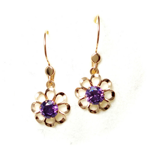 Koukkukorvakoru kukka lila, kultaa 22185