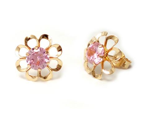 Tappikorvakoru kukka pinkki, kultaa 22192