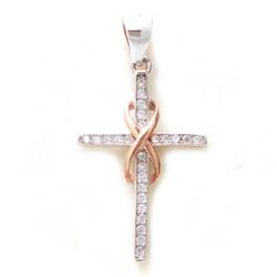 Hopearisti rosekullatulla ikuisuuden symbolilla, hopeaa 11328