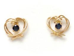 Sydäntappikorvakorut sinisafiirilla, kultaa 22310