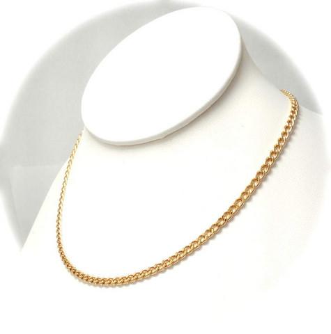 Panssari-kaulaketju 3,7mm leveä, kultaa 24017