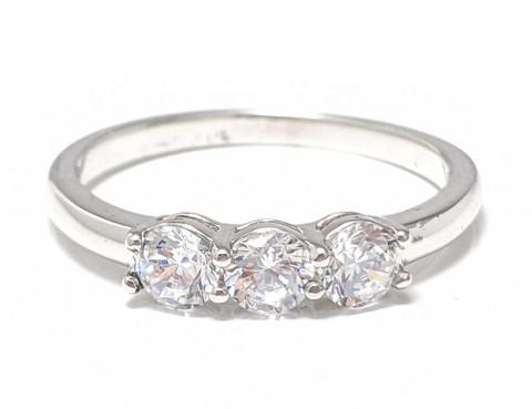 Siro kolmen kiven sormus, hopeaa 13012