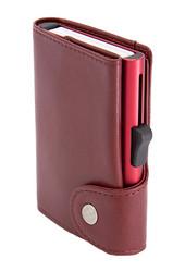 C-Secure XL turvalompakko aitoa nahkaa, punainen