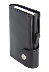 C-Secure XL turvalompakko aitoa nahkaa, musta