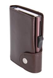 C-Secure XL turvalompakko aitoa nahkaa, ruskea