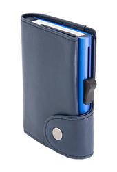 C-Secure XL turvalompakko aitoa nahkaa, sininen