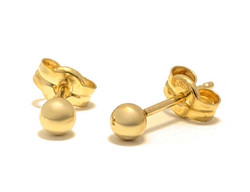 Pallotappi-korvakoru 3mm, kultaa