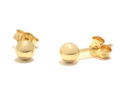Pallotappi-korvakoru 4mm, kultaa