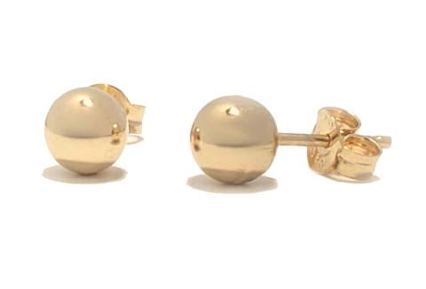 Pallotappi-korvakoru 5mm, kultaa
