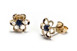 Tappikorvakoru kukka sininen, kultaa 22195