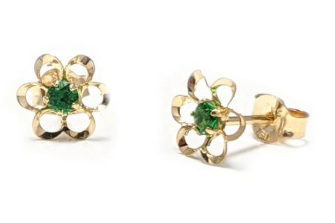 Tappikorvakoru kukka vihreä, kultaa 22195
