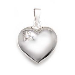 Sydän-riipus timantilla, valkokultaa 21581