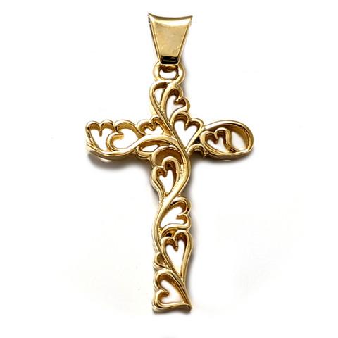 Köynnösristi-riipus kullattu, hopeaa