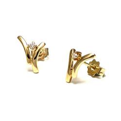 Joy timantti-korvakorut, keltakultaa