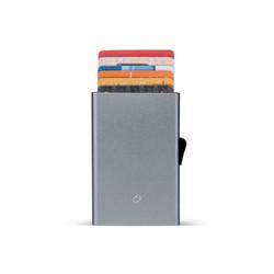 C-Secure korttikotelo harmaa, alumiinia
