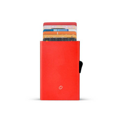 C-Secure korttikotelo punainen, alumiinia