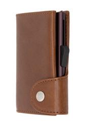 C-Secure turvalompakko luonnollisesti parkittua aitoa nahkaa, ruskea