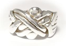 Pirunnyrkki-sormus 6-osainen, hopeaa 13004