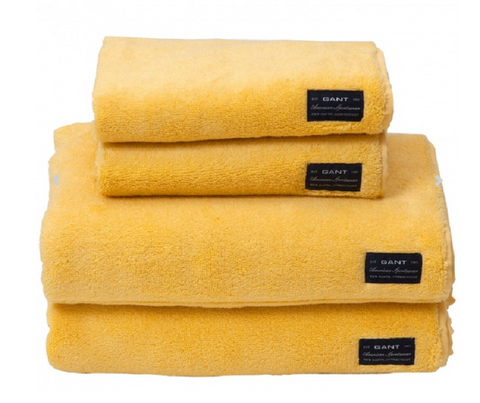 Solid Terry Golden Yellow Bath Towel