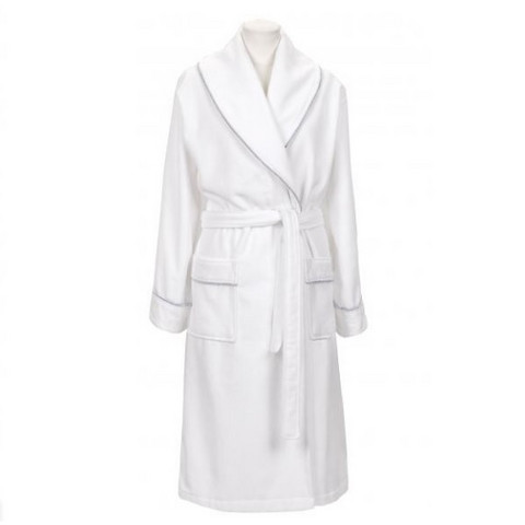 Premium Velour Robe White
