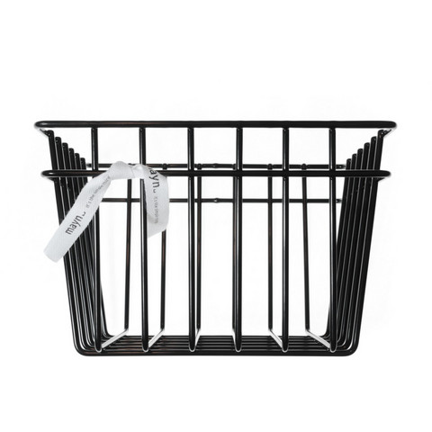 Metal wire basket Black S