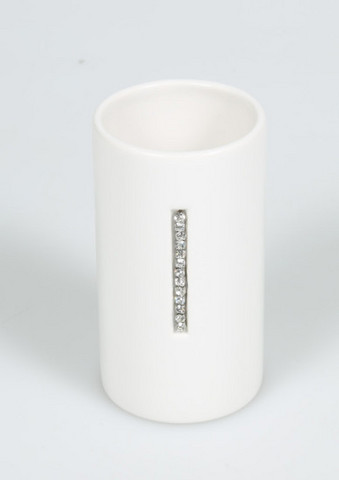 Diamonde White Brush holder