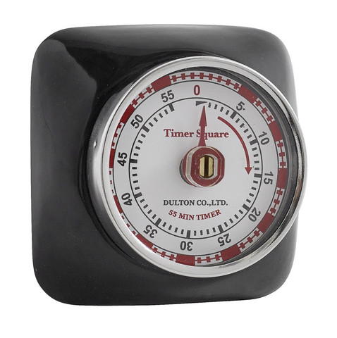 Kitchen timer with magnet Black