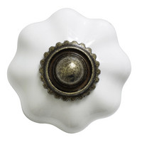 Flower knob White