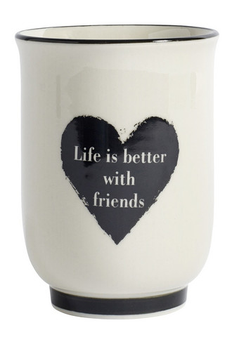 HEART mug, Life is better with friends