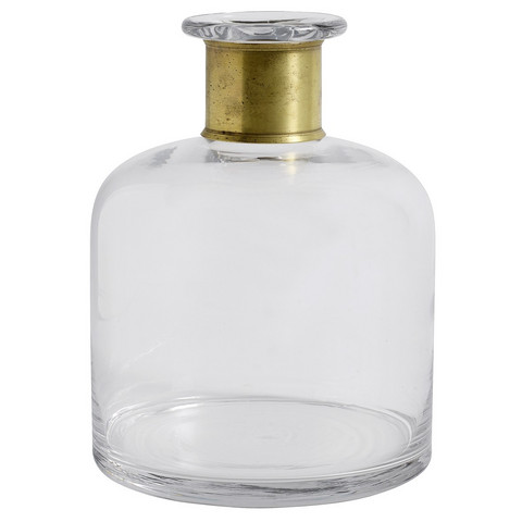 Ring Decoration bottle L Clear