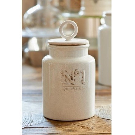 No. 1 Decoration Pot M vintage white
